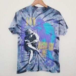 Guns N Roses Illusion Tour 1991 Band Tee Size M